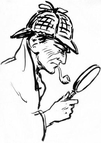 Sherlock Holmes as portrayed by Frederic Dorr Steele