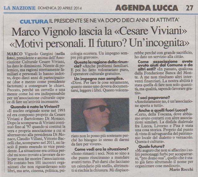 Marco Vignolo lascia la Cesare Viviani