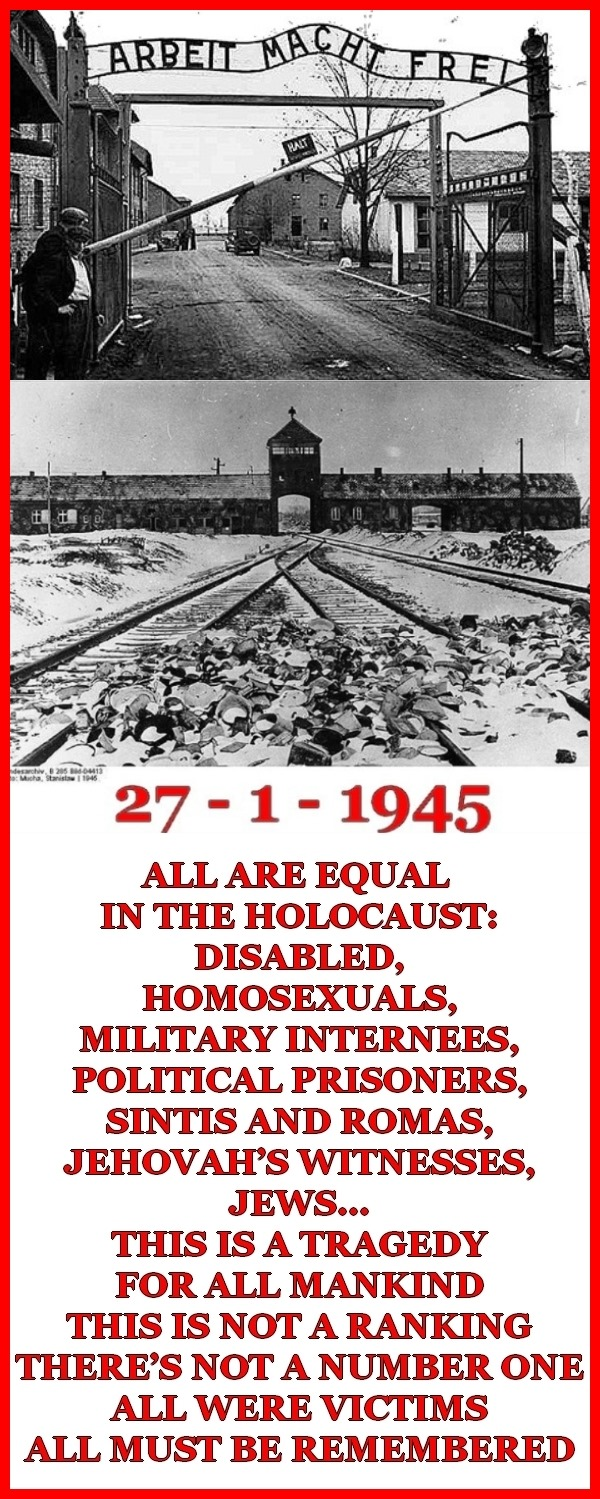ALL ARE EQUAL IN THE HOLOCAUST