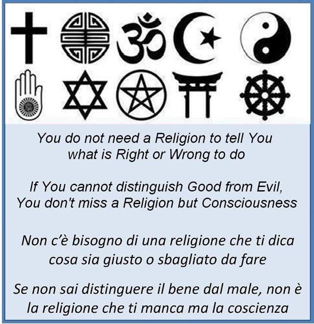 non c'è bisogno di una religione