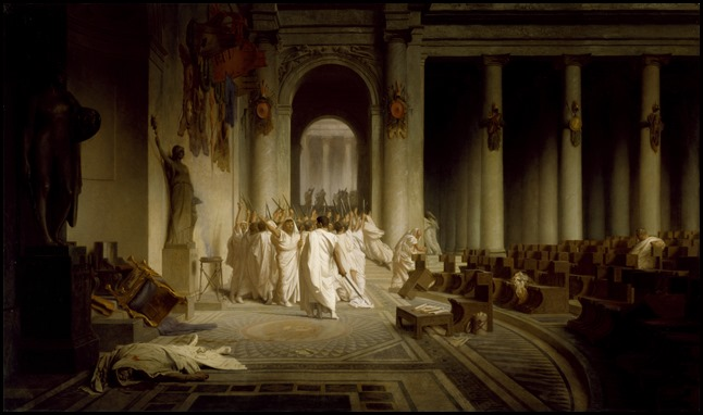 Jean-L�on G�r�me (French, 1824-1904). 'The Death of Caesar,' 1867. oil on canvas. Walters Art Museum (37.884): Acquired by Henry Walters, 1917.