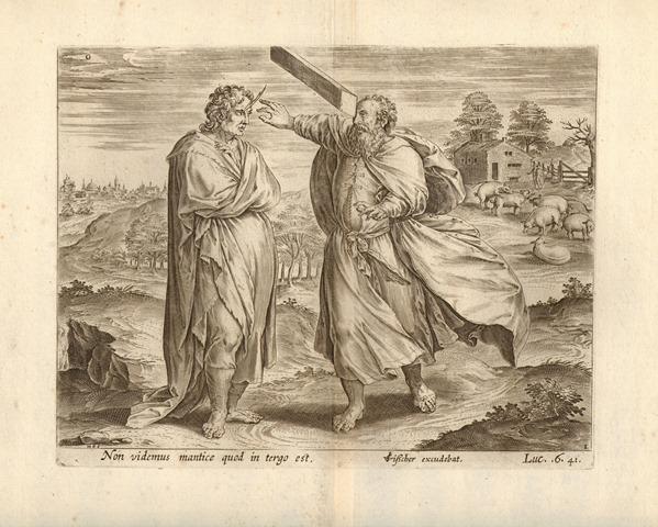 Collaert Hans I - la parabola della pagliuzza e della trave