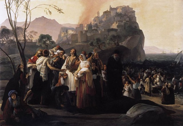 Francesco Hayez - Gli abitanti di Parga che abbandonano la loro patria