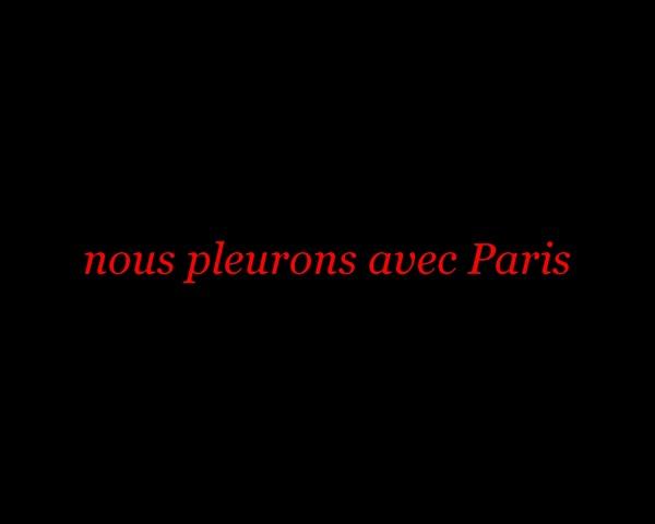 nous pleurons avec Paris