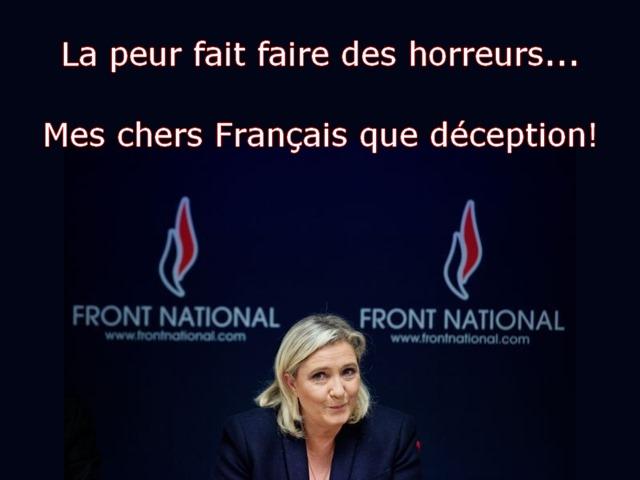 mes chers Français que déception!