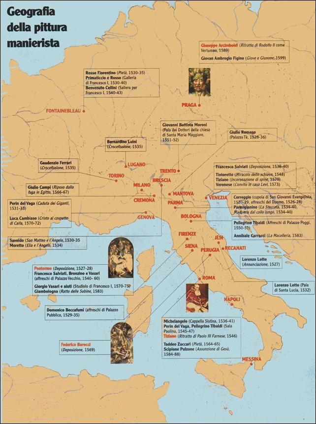 Geografia della pittura manierista