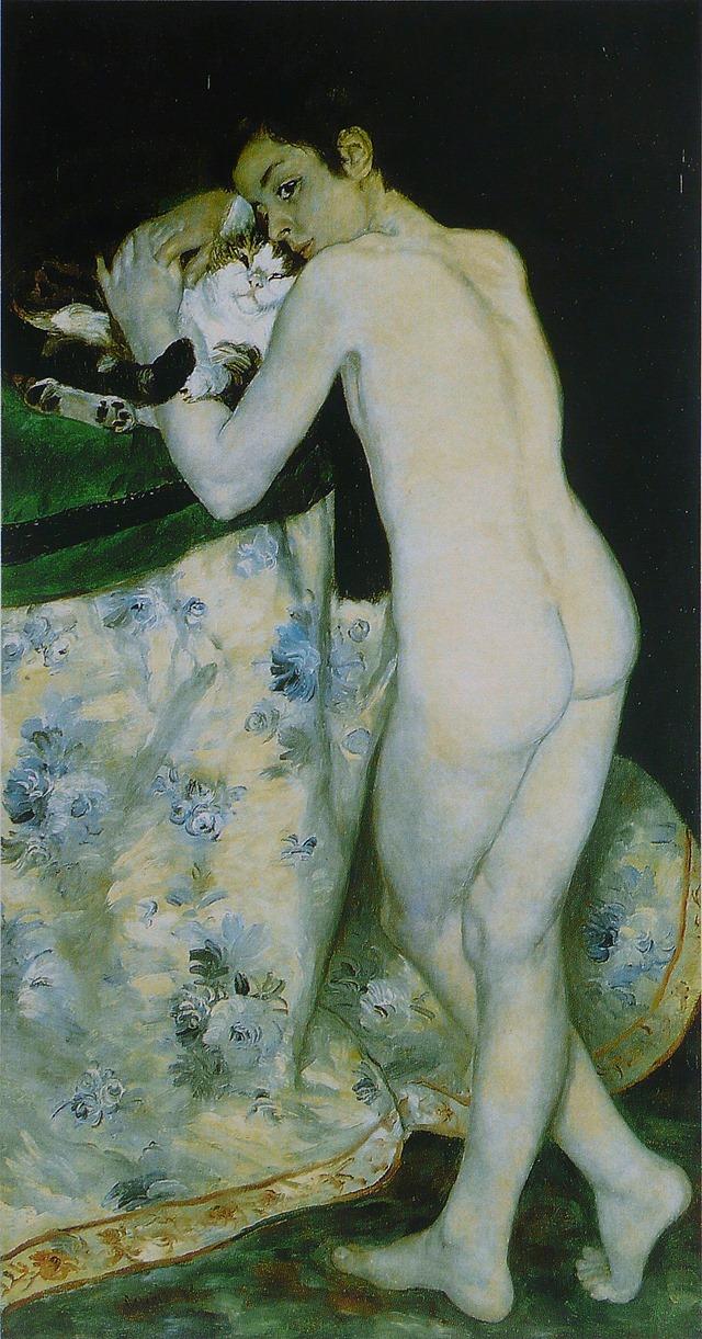Pierre-Auguste_Renoir_-_Garçon_au_chat 1868