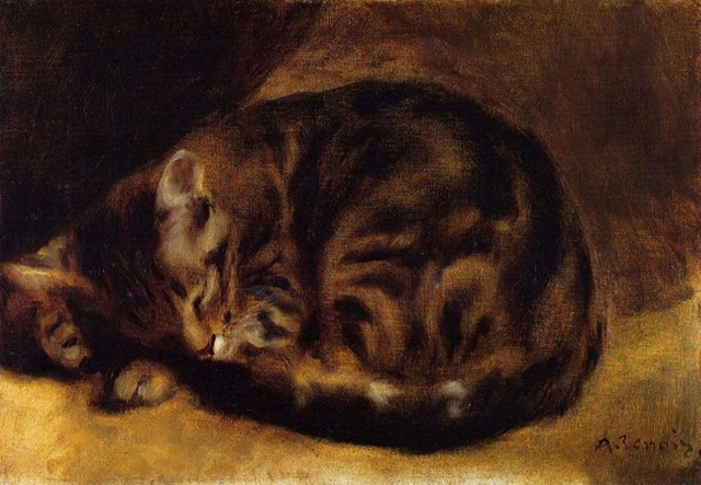 Pierre-Auguste_Renoir_-_Le Chat dormant 1862