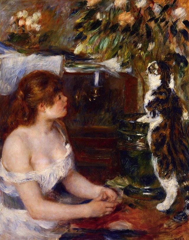 Renoir-Pierre-Auguste-La-jeune-fille-au-chat-1879