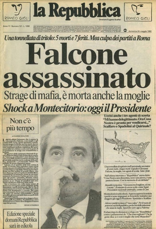 Falcone assassinato