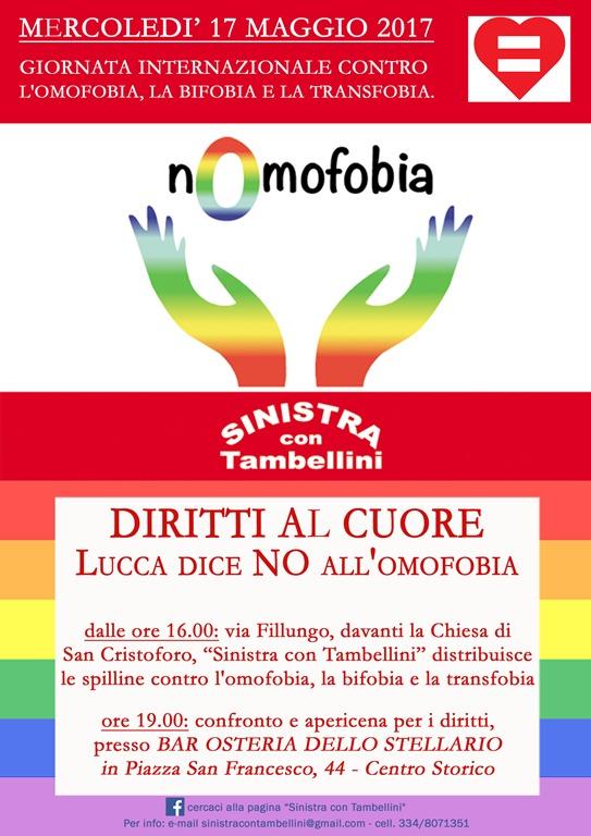 no omofobia Sinistra con Tambellini